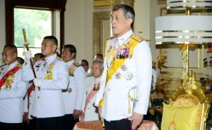 (FILES) This file andout photograph from the Thai Parliament taken on August 07, 2014 shows Thai Crown Prince Maha Vajiralongkorn attending the opening of the National Legislative Assembly in Bangkok. Crown Prince Maha Vajiralongkorn will succeed his father, Thailand's junta chief said on October 13, 2016, following the death of King Bhumibol Adulyadej after a long battle with ill health. / AFP PHOTO / PARLIAMENT / HO